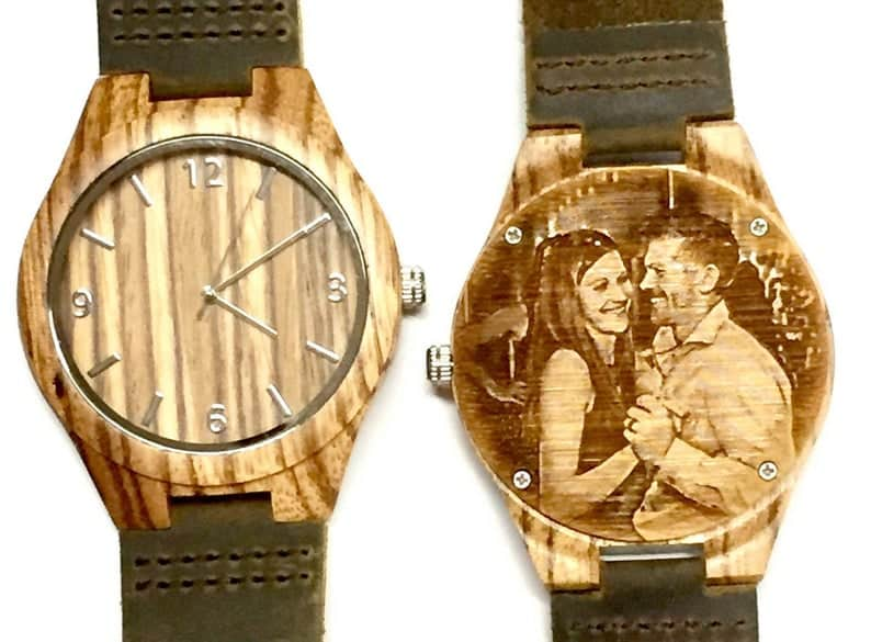 Engraved Wood Watch for Husband