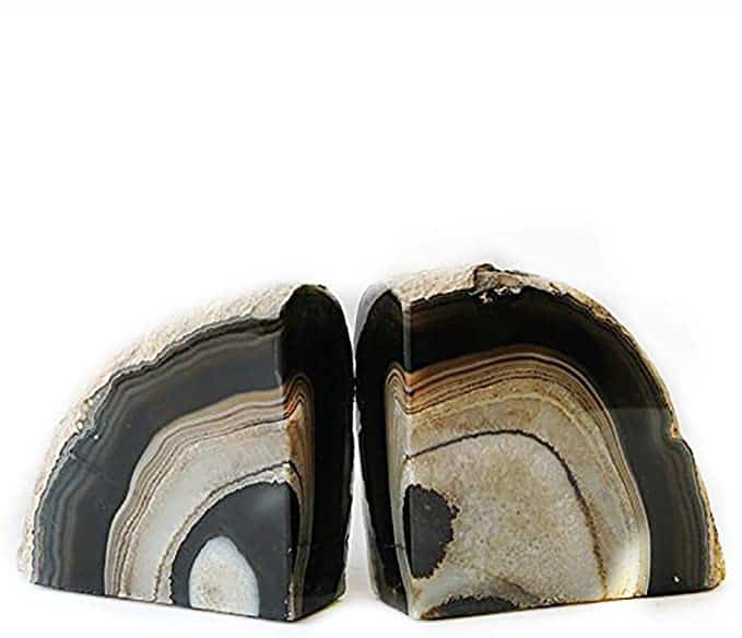 15th anniversary gift for husband:Geode Agate Bookends