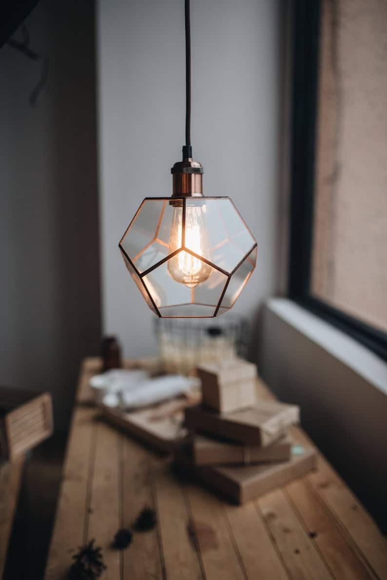 15th anniversary gift ideas for her:Glass Handmade Lamp