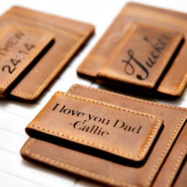 fathers day gift ideas: Leather Money Clip