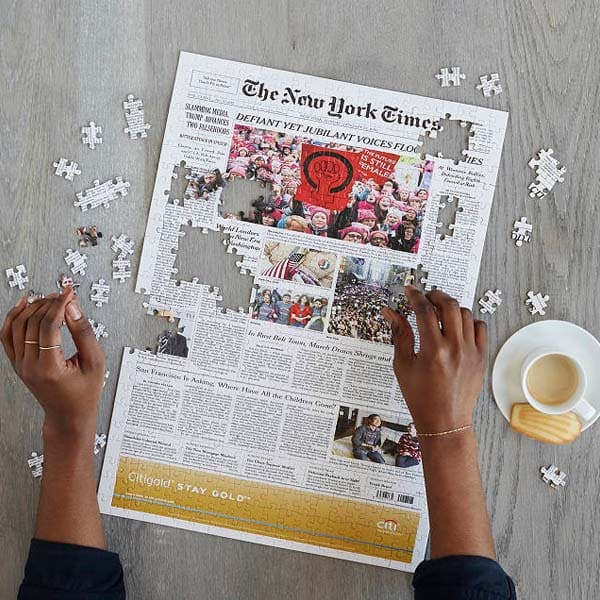 best fathers day gifts: New York Times Front Page Puzzle