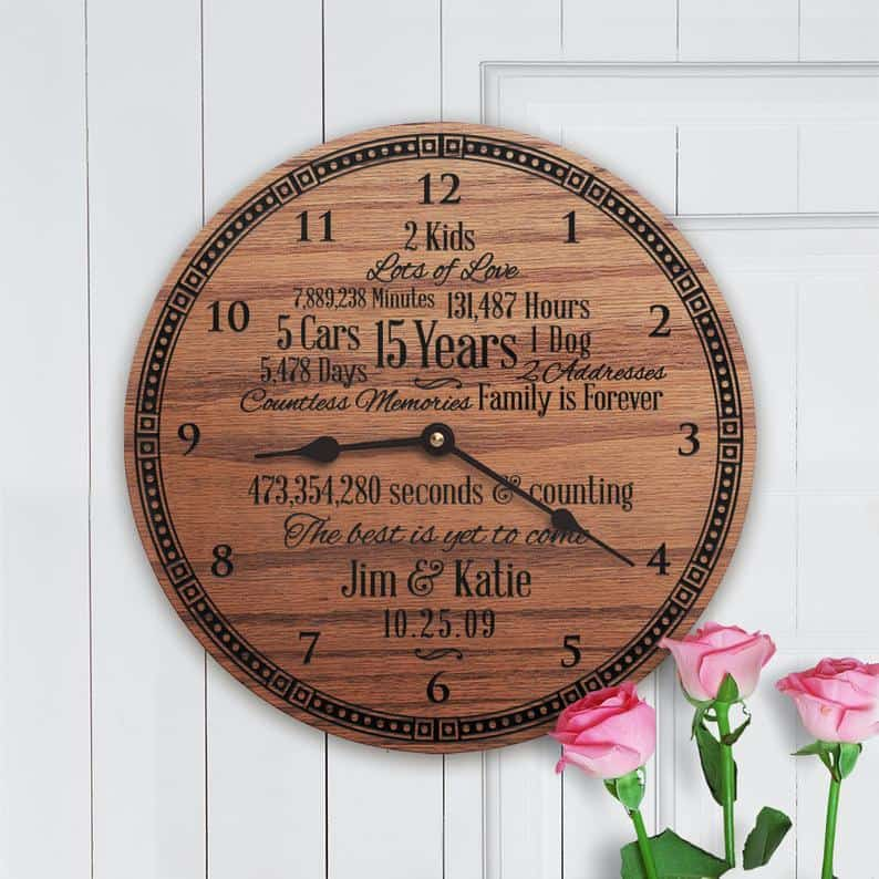 Personalized Clock for Wife