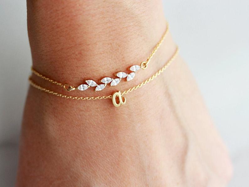 Personalized Crystal Bracelet Set