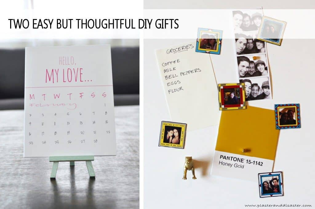 diy gift idea for 10th anniversary: Personalized Calendar & Photo Magnets