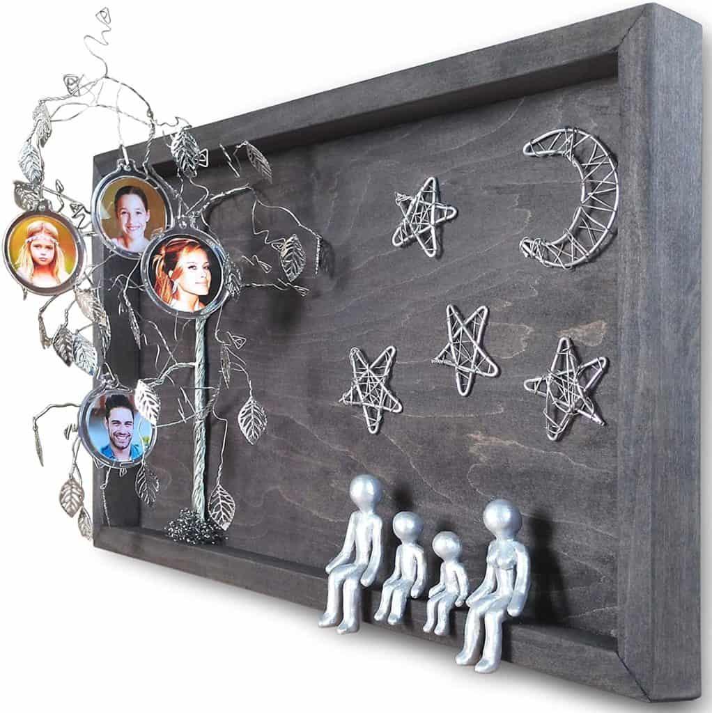 tin gift idea: tin family tree frame