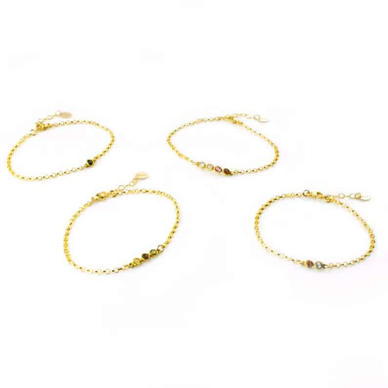 nice mothers day gifts: birthstone bracelet