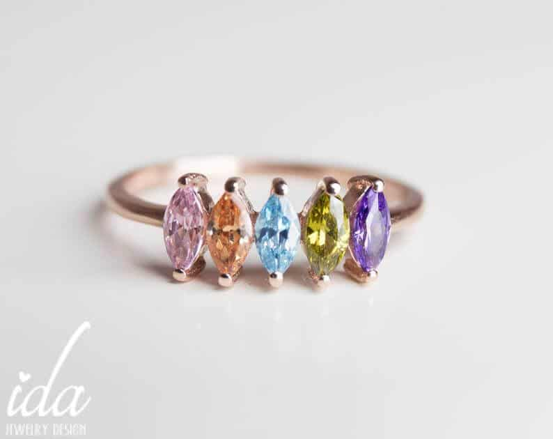 cool mothers day gifts: birthstone ring