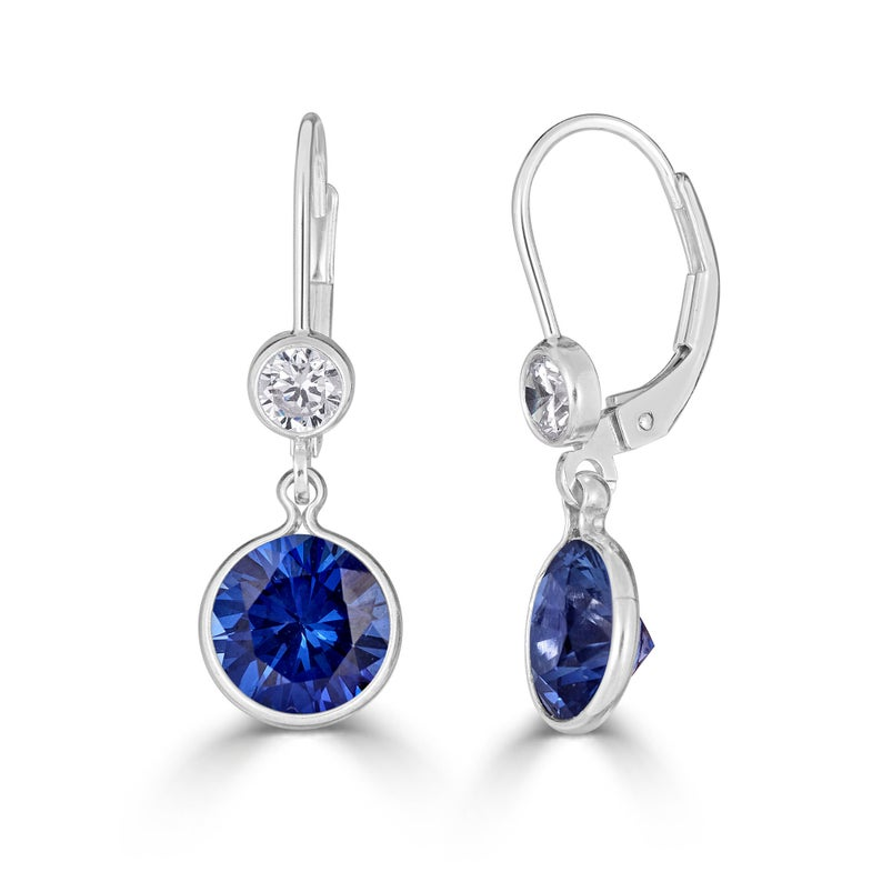 10th wedding anniversary gifts for her: blue sapphire earrings