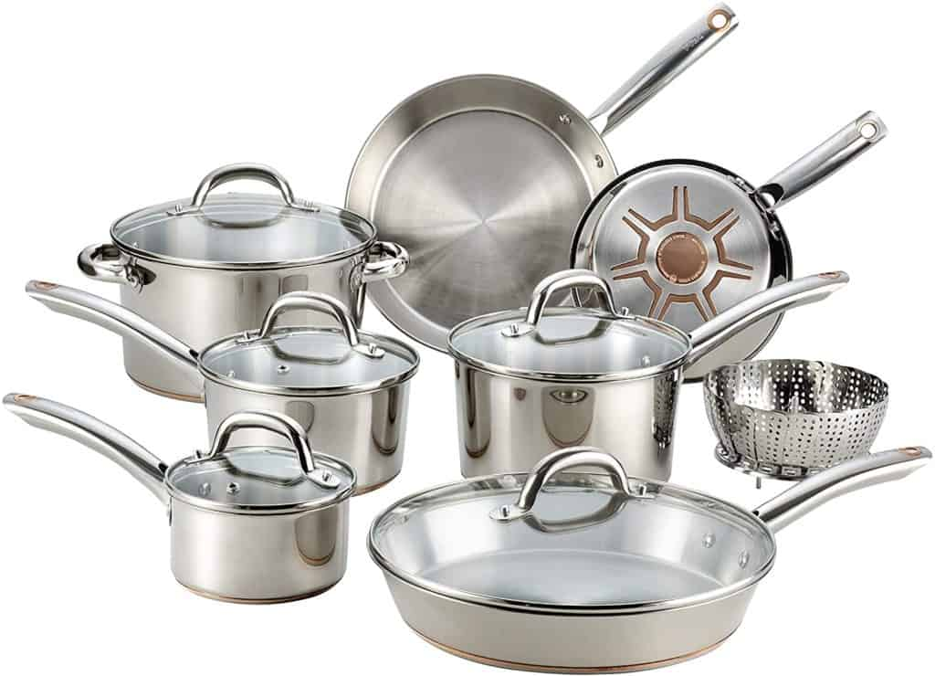 anniversary gifts for friend: stainless steel cookware set