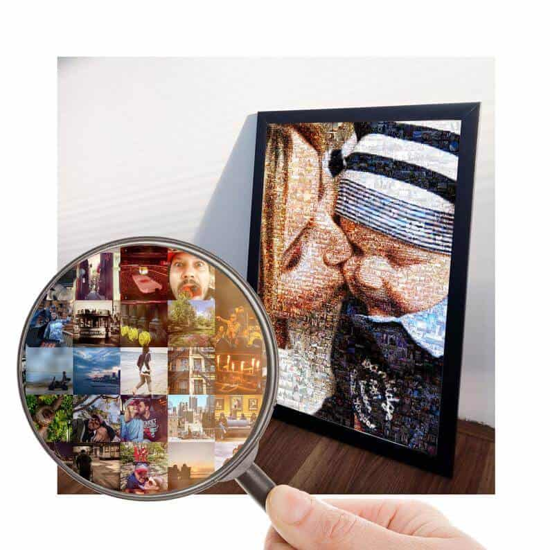 first mothers day gift ideas: custom mosaic portrait