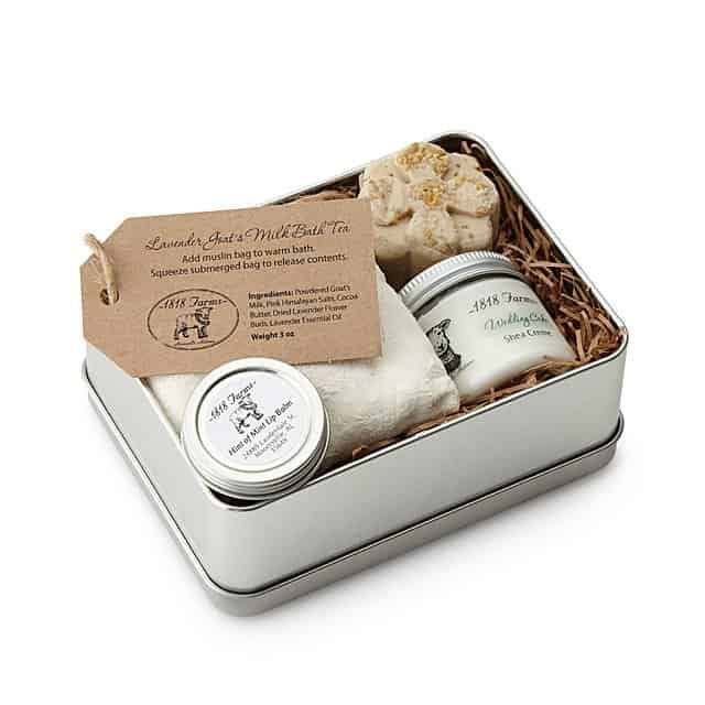 10 year anniversary gift for her: farm fresh spa experience tin