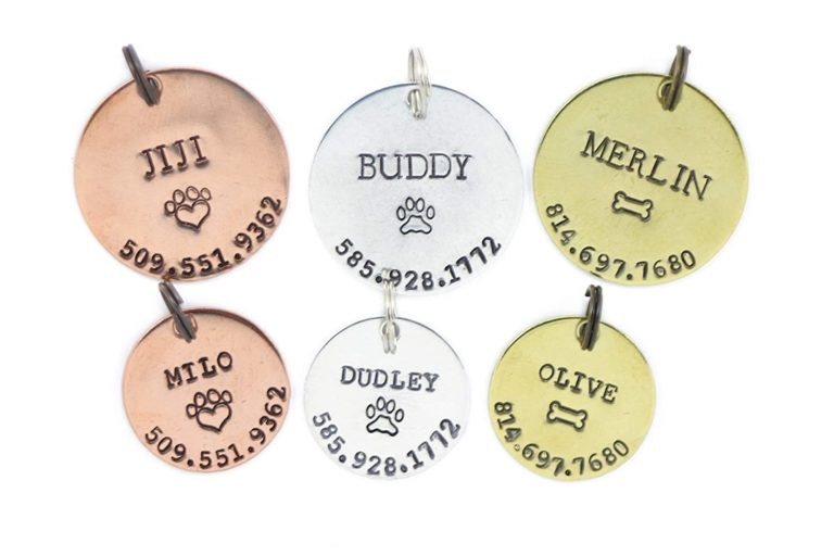 hiking gifts for him - pet tag