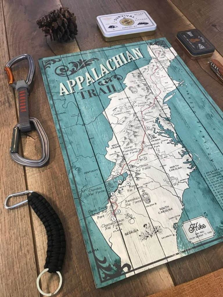 gifts for hikers and campers - map