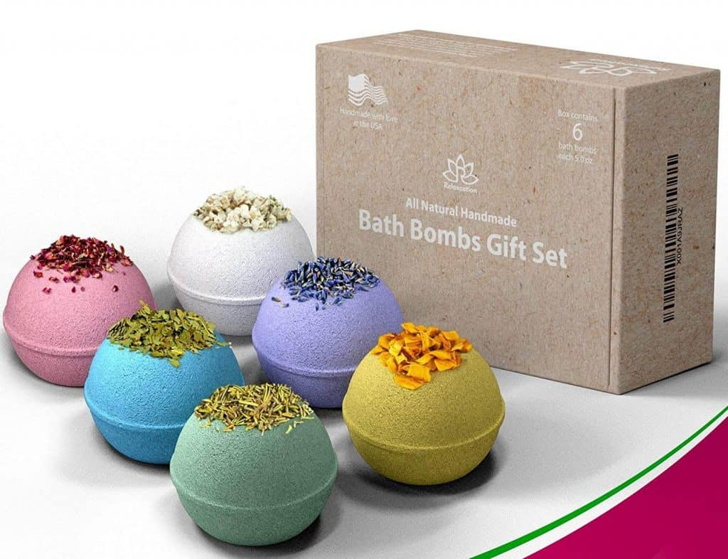 thoughtful first mothers day gifts: natural bath bomb gift set