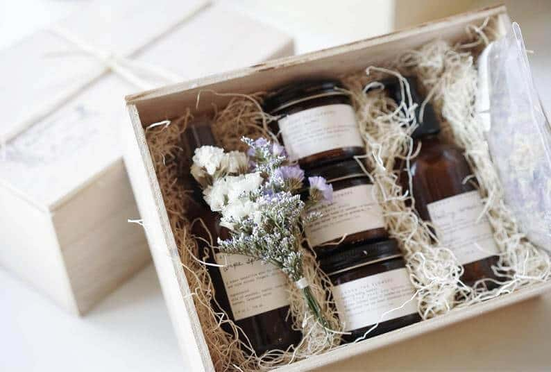 thoughtful first mothers day gifts: new mom and baby gift box