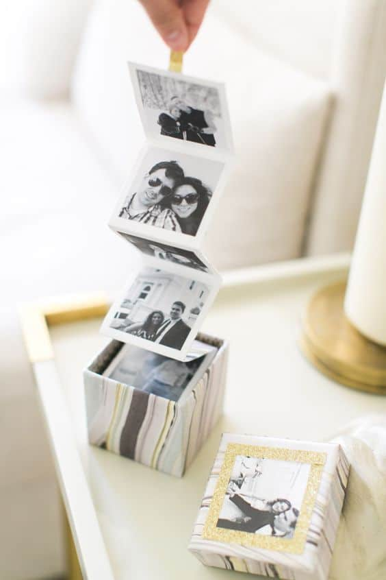 diy anniversary gift: diy photo box
