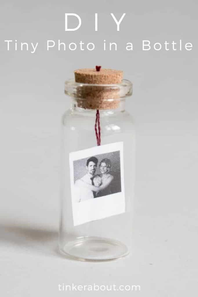 diy tiny photo or message in a bottle