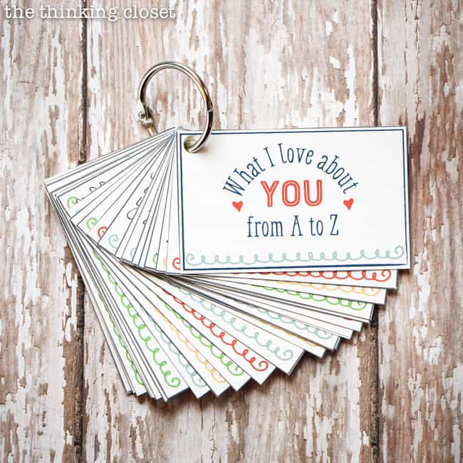 """""""What I Love About You from A to Z"""" Mini-Book - anniversary gift idea"""