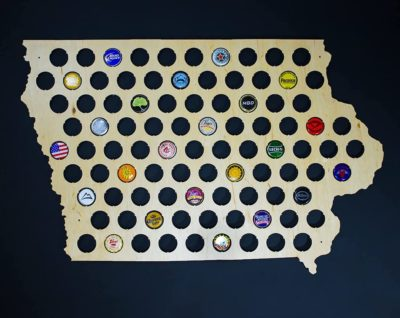 All 50 States Beer Cap Map - Last-Minute Father's Day Gift