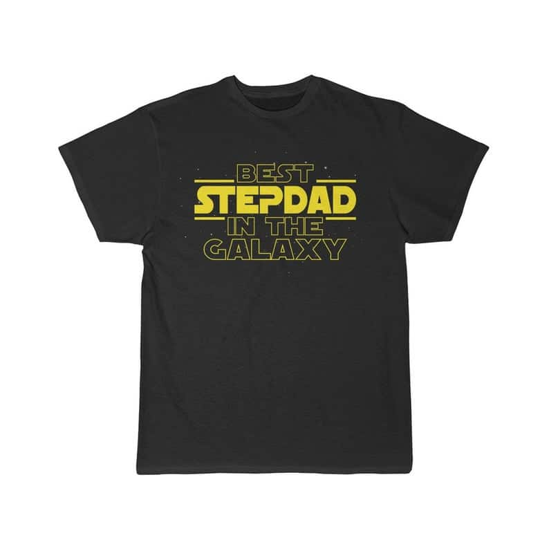 step dad gift ideas: best stepdad in the galaxy t-shirt