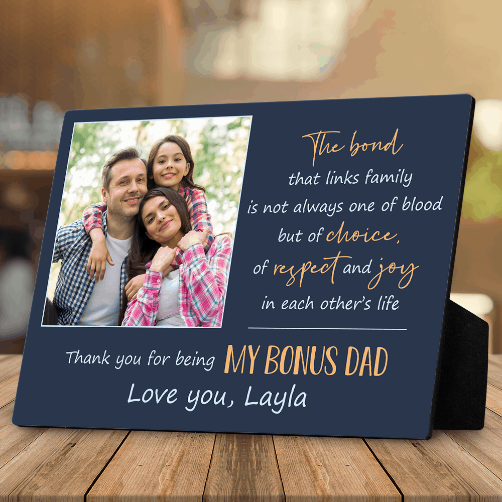 bonus dad gifts: custom photo plaque