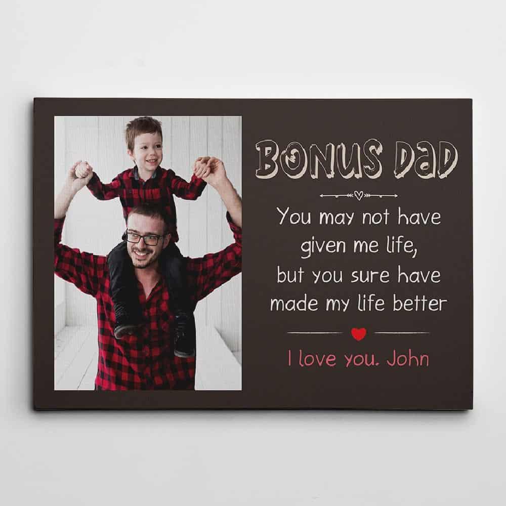 custom photo canvas print for stepdad