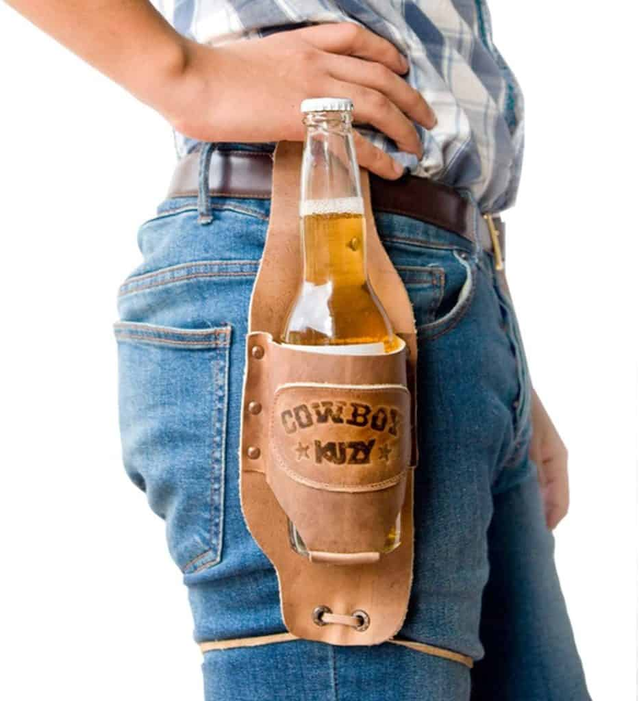 funny gifts for stepfather: cowbow beer holster