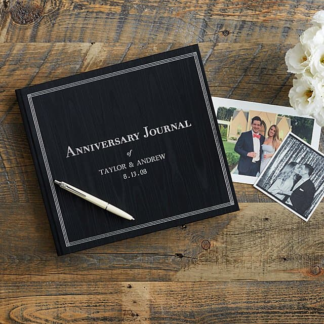 wedding gift idea for stepfather: Personalized Anniversary Journal