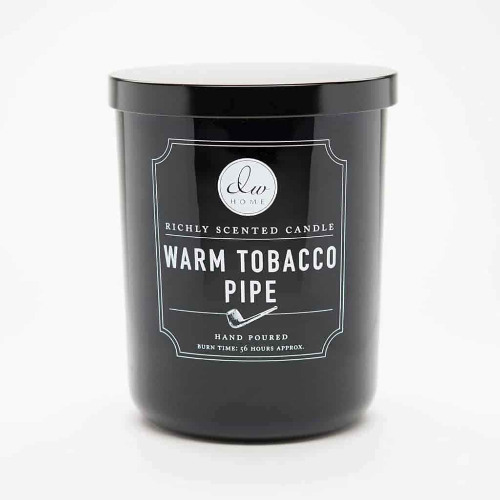 christmas gift for stepdad: warm tobacco pipe scented candle