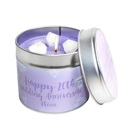 20th China Wedding Anniversary Scented Soya Wax Candle