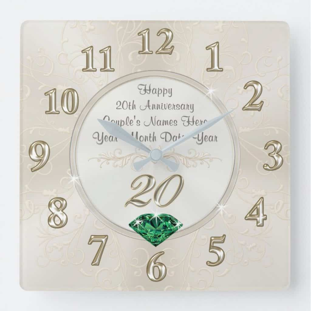 20th anniversary gift - personalized clock