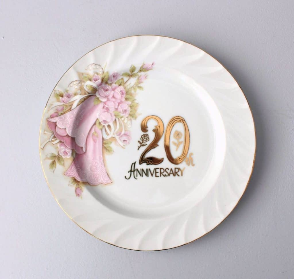 20th anniversary plate For Wife