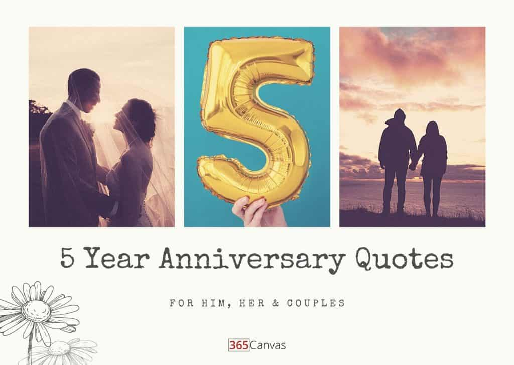40 Heartfelt 5-Year Anniversary Quotes For Him, Her and Couples