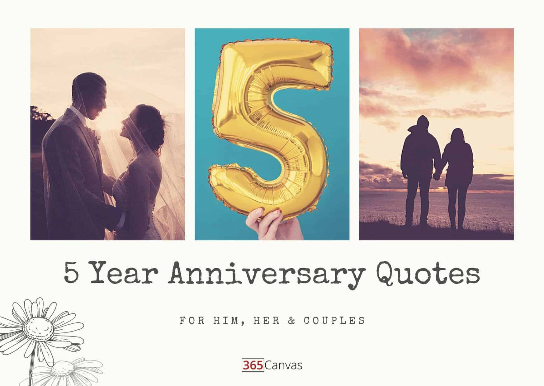 5 Year Anniversary Quotes For Him, Her And Couples