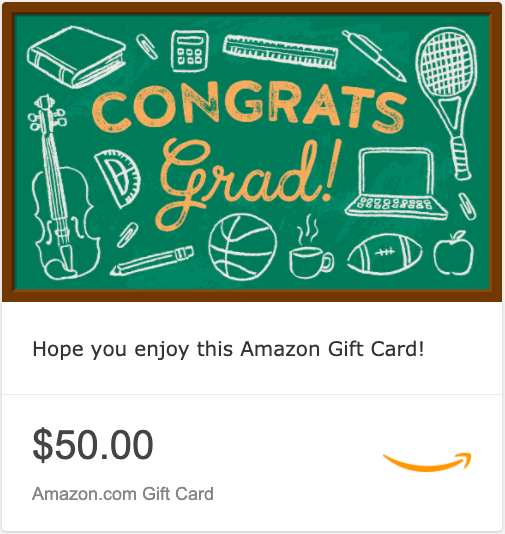 Amazon eGift Card For High School Graduates
