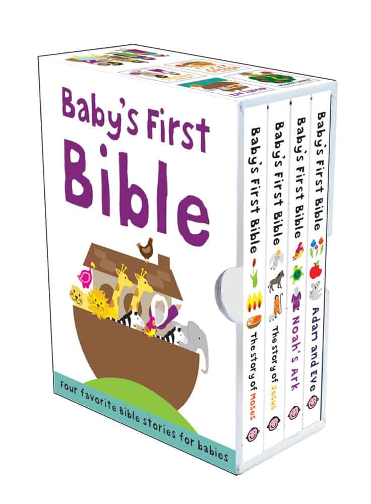 Baby's First Bible Box set - Baptism gifts for boys