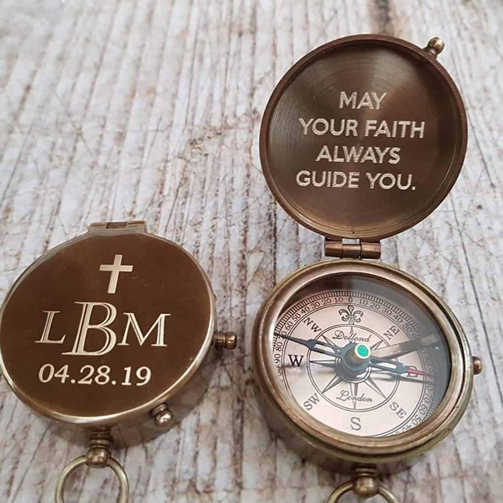 Baptism Compass with customized text