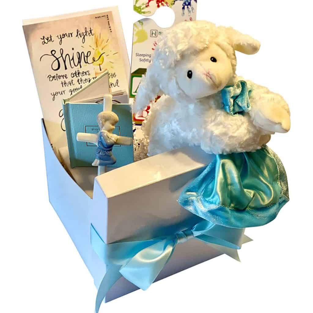 Baptism Gift Set decorated in blue