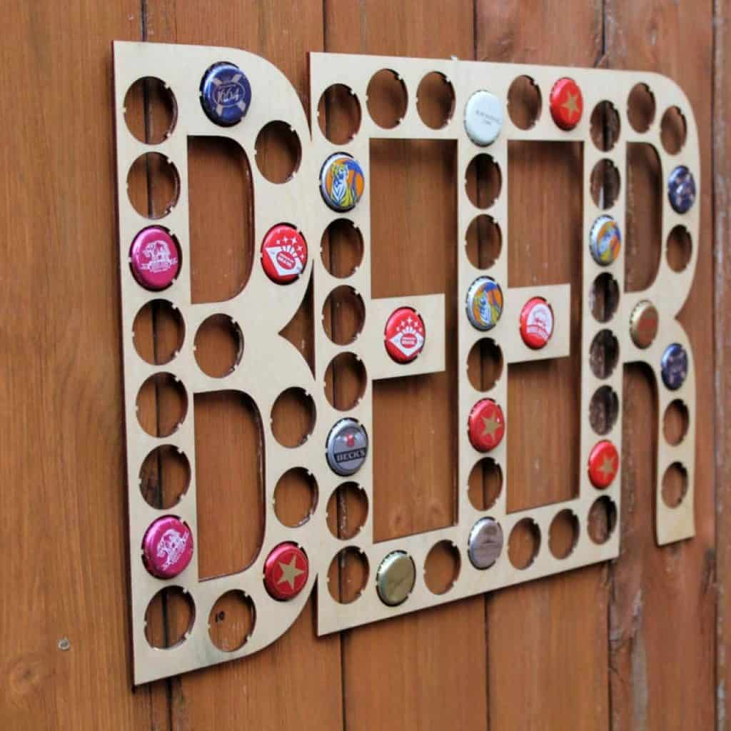 Beer Cap Collection: great gift for brother-in-law