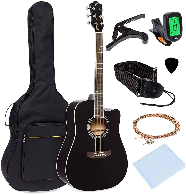 Beginner Acoustic Cutaway Guitar Set - gifts for teen boys