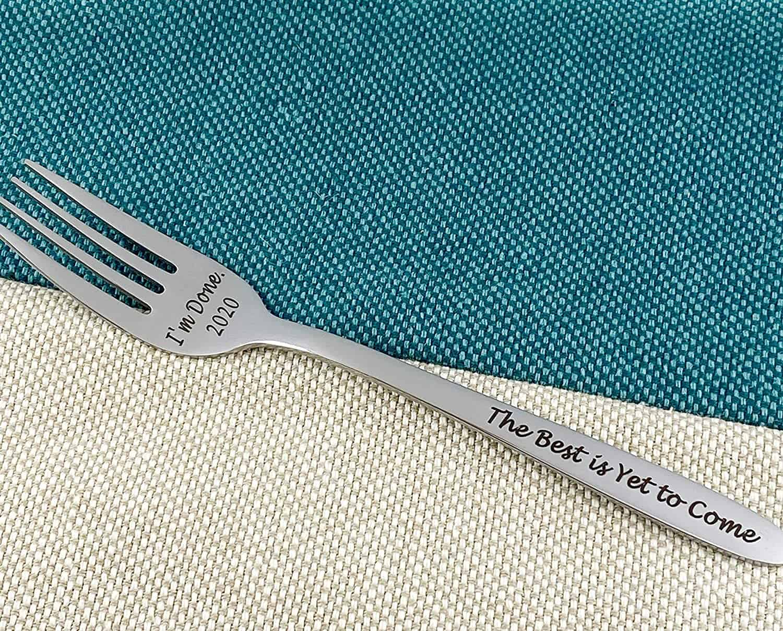 Engraved Retirement Fork