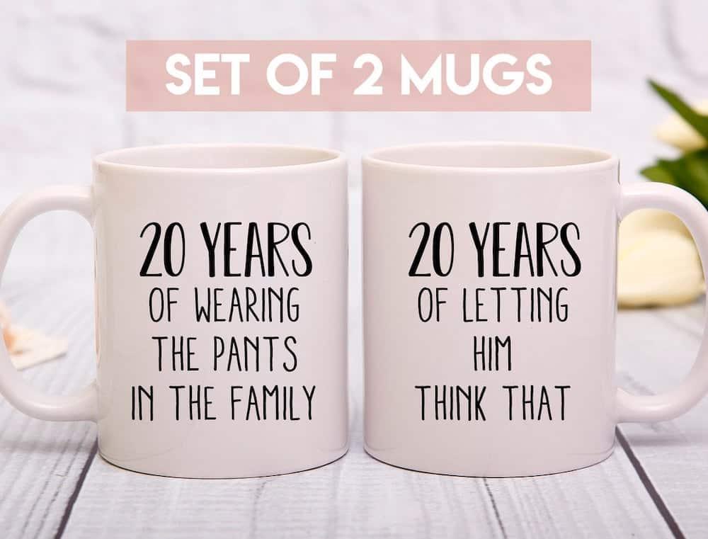 Funny 20th Wedding Anniversary Mug Gift For Couples