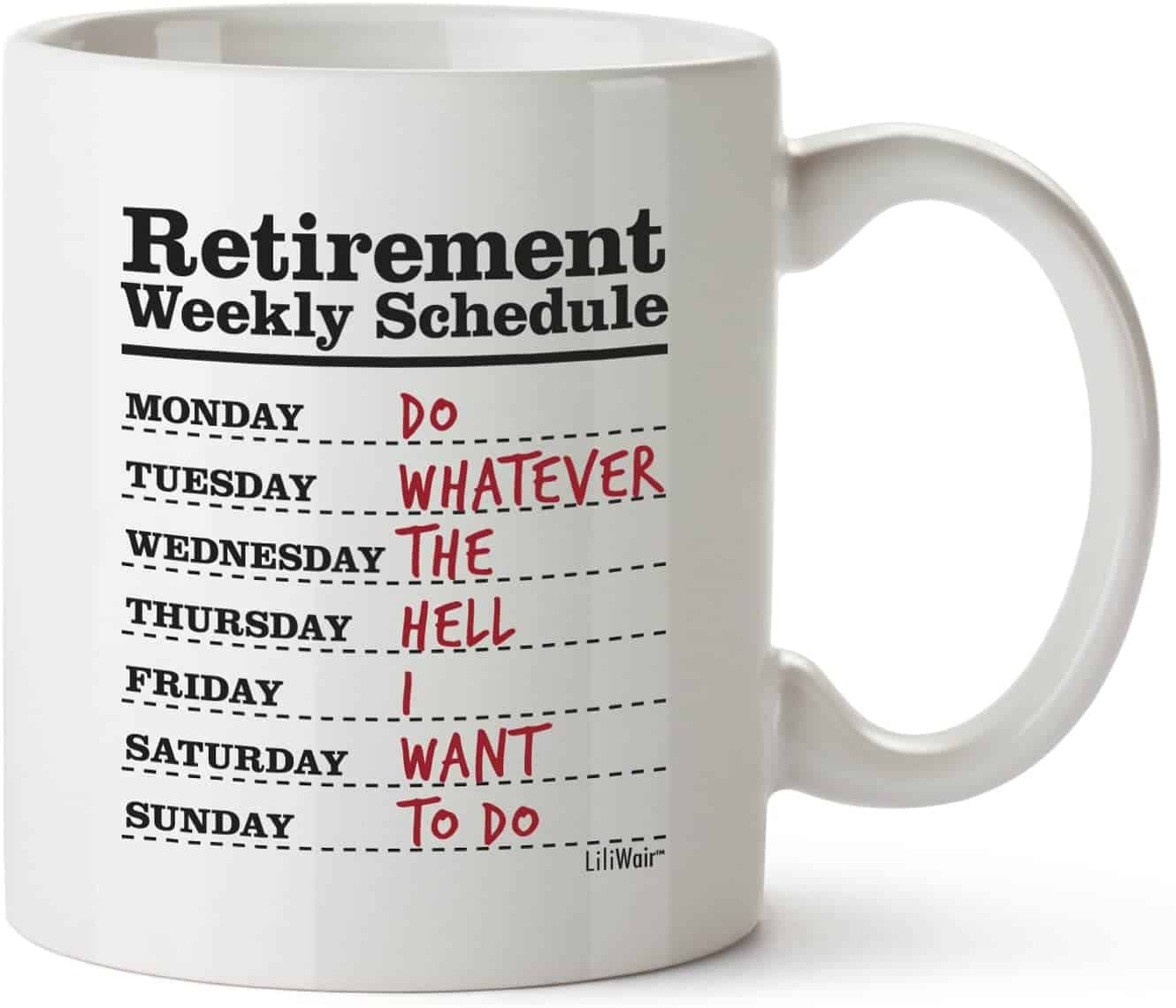 What can be better for a retirement gift for women than a funny mug?