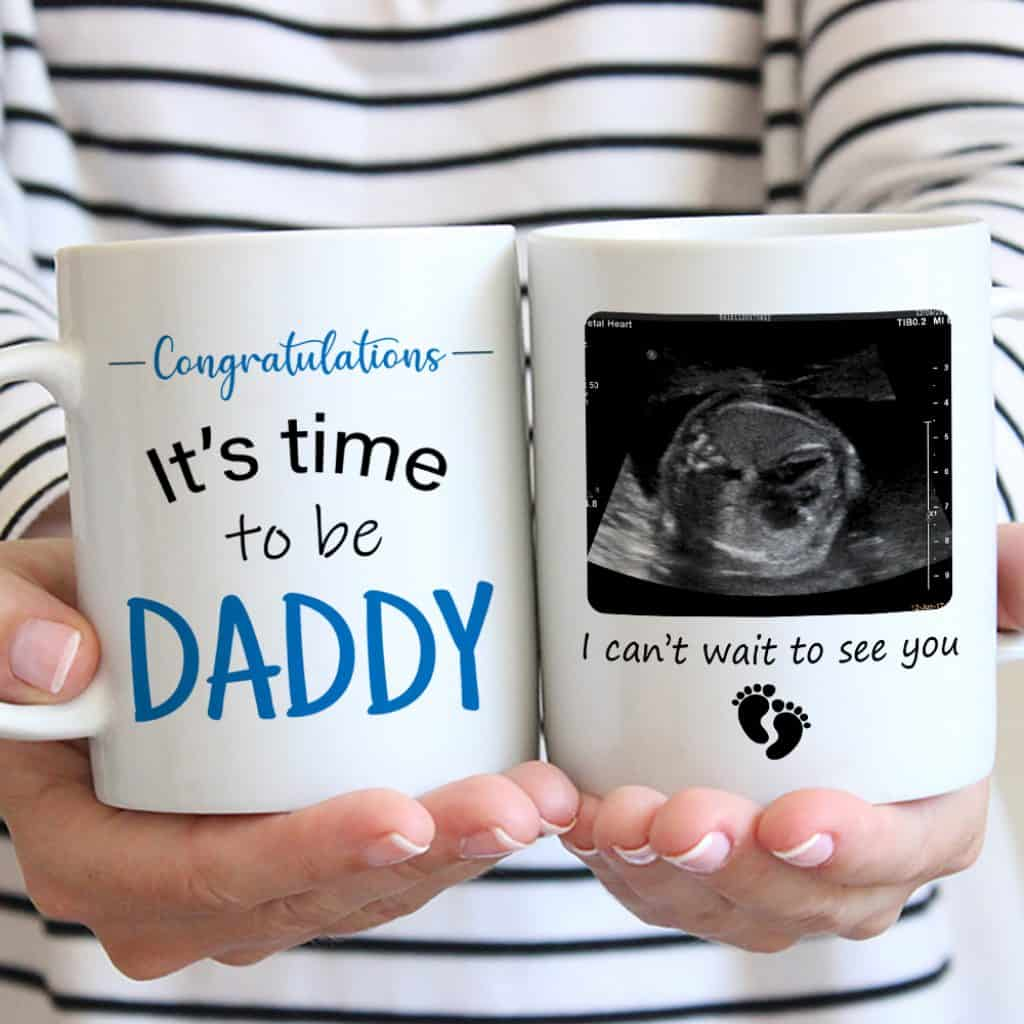 New Dad Custom Photo Mug
