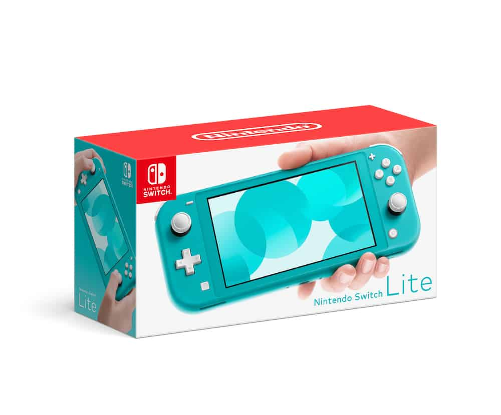 A Turquoise Nintendo Switch Lite Console As A Graduation Gift For Men