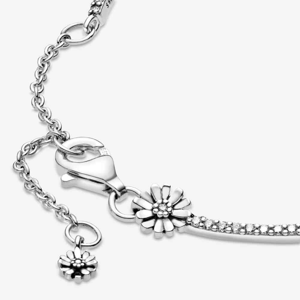 Pandora Sparkling Daisy Flower Bracelet - Sweet 16 Gift For Niece