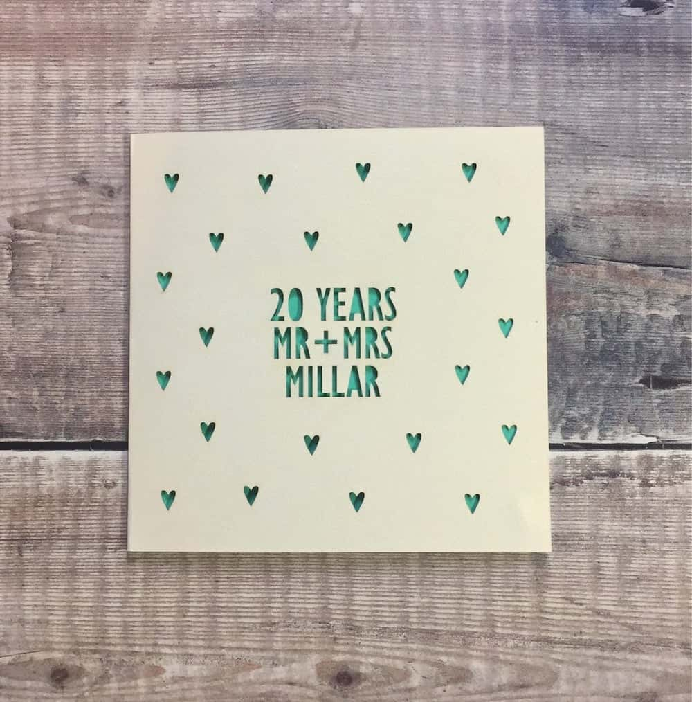 Personalized 20th Anniversary Card