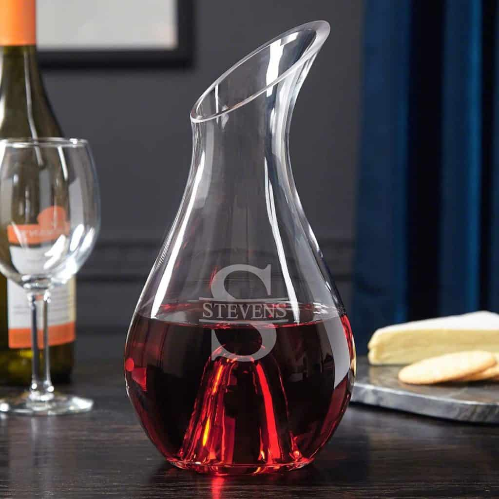 Personalized Wine Decanter made of glass