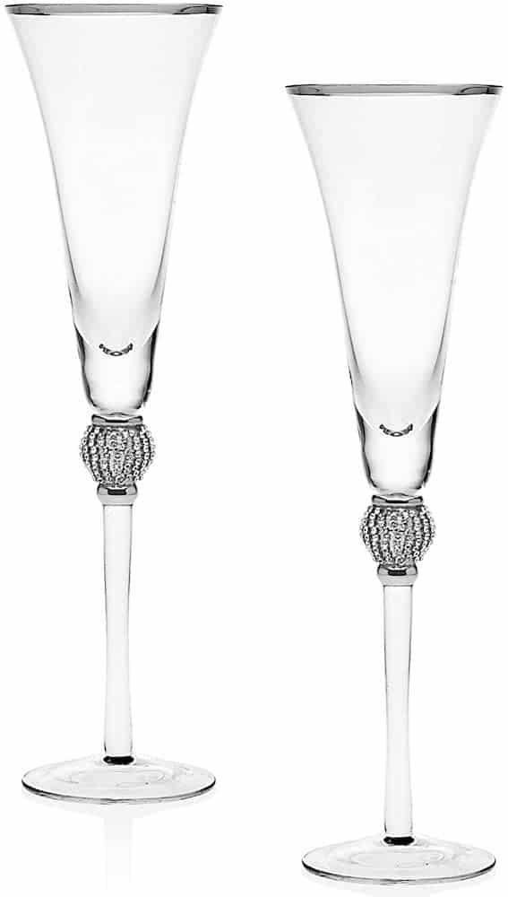 Platinum Diamond Champagne Glasses