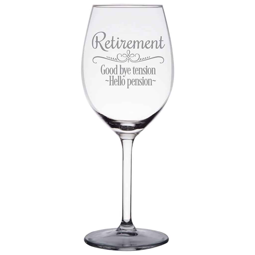 Retirement Gift Wine Glass
